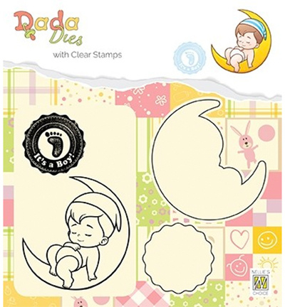 DDCS011 Cutting & embossing It's a boy: on the moon