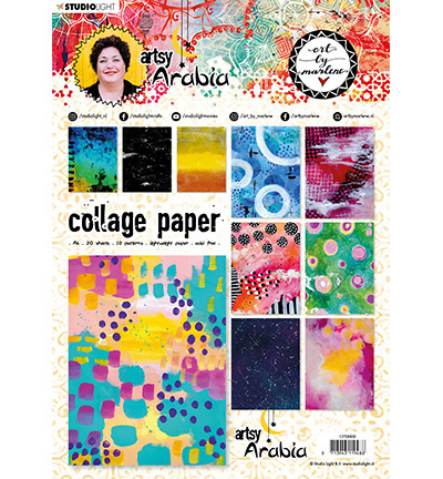 CPBM08 Art By Marlene Collage Paper Artsy Arabia, nr.08