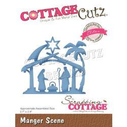 """CCE554 CottageCutz Elites Die Manger Scene, 2.7""""X2.4"""""""