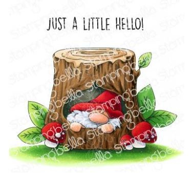 EB940 Stamping Bella Cling Stamps Gnome In A Tree