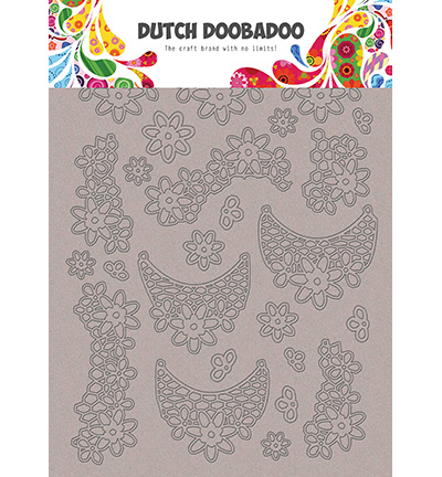 492.006.005 Dutch DooBaDoo Greyboard Art Lace flowers