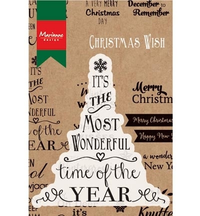 CS0978 Stempel teksten Most wonderful time of the year