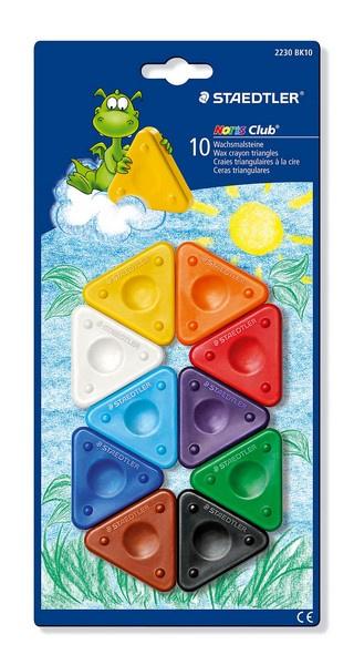 320400/0110 Staedtler Noris Club krijt driehoeksvorm - blister 10 st.