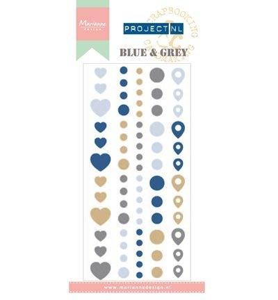PL4501 - Project NL Adhesive stickers - Blue & Grey