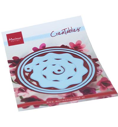 LR0672 Marianne Design Creatable Round box & flower