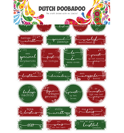 491.200.010 Dutch DooBaDoo Dutch Sticker Art Christmas