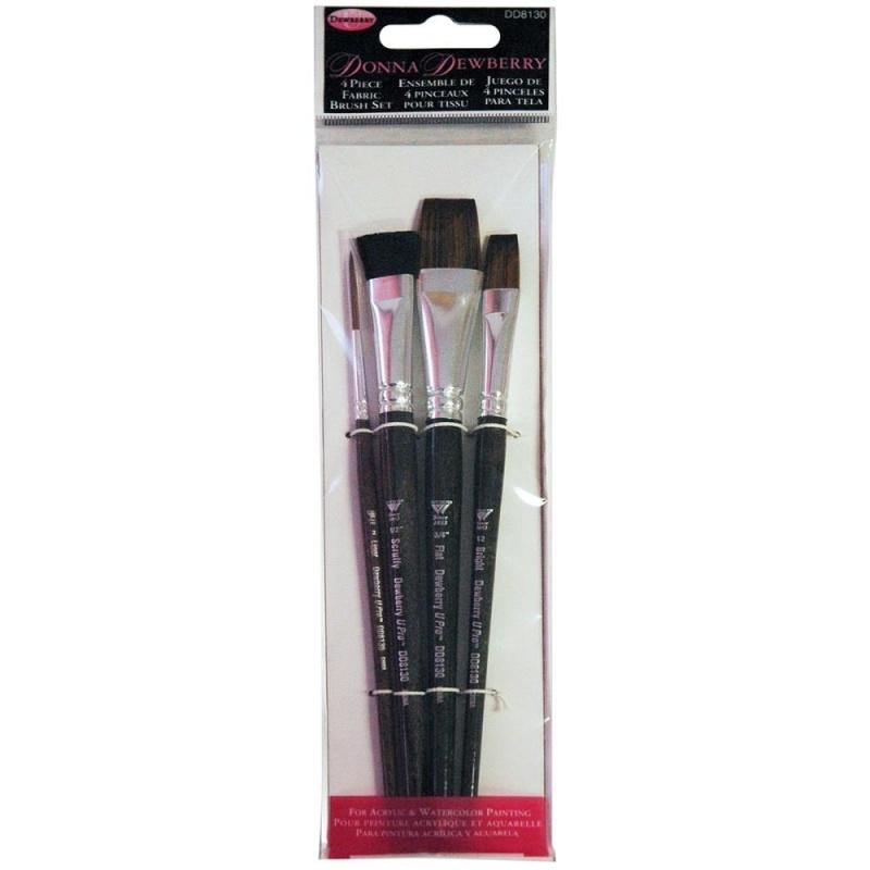 135235 Donna Dewberry Fabric Brush Set 4pc