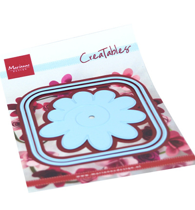 LR0673 Marianne Design Creatable Square box & flower