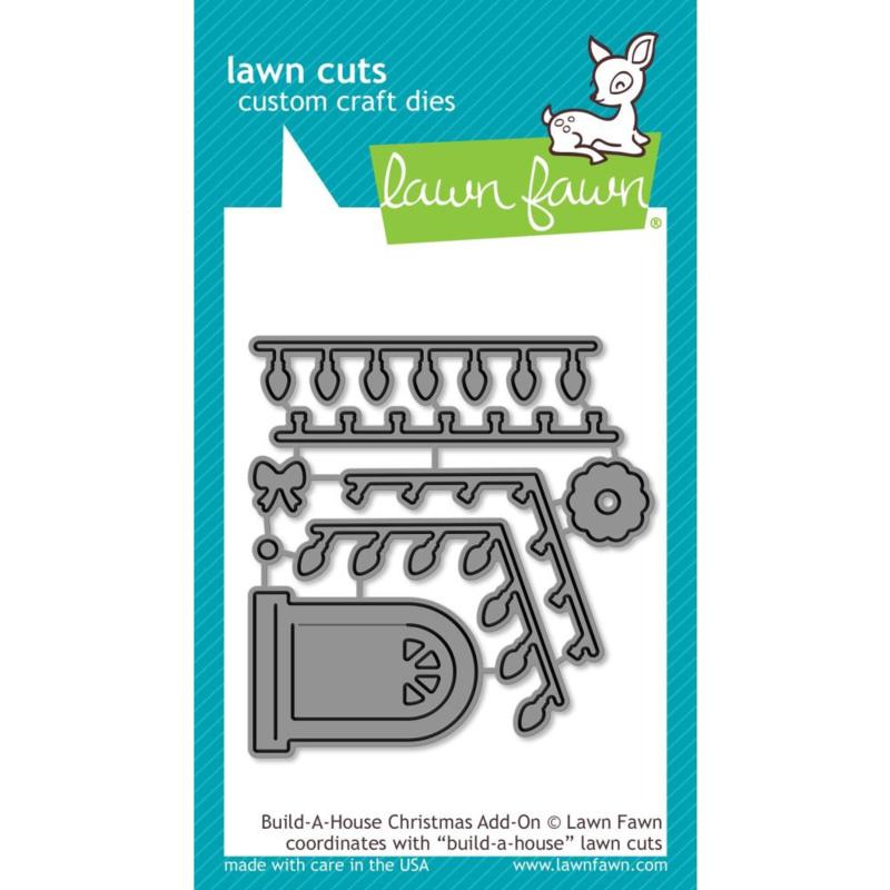 LF2048 Lawn Cuts Custom Craft Die Build-A-House Christmas Add-On