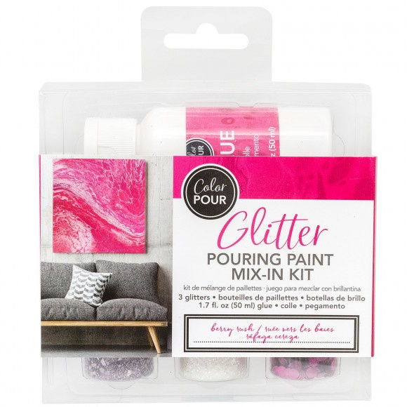 348484 American Crafts Color Pour glitter mix berry