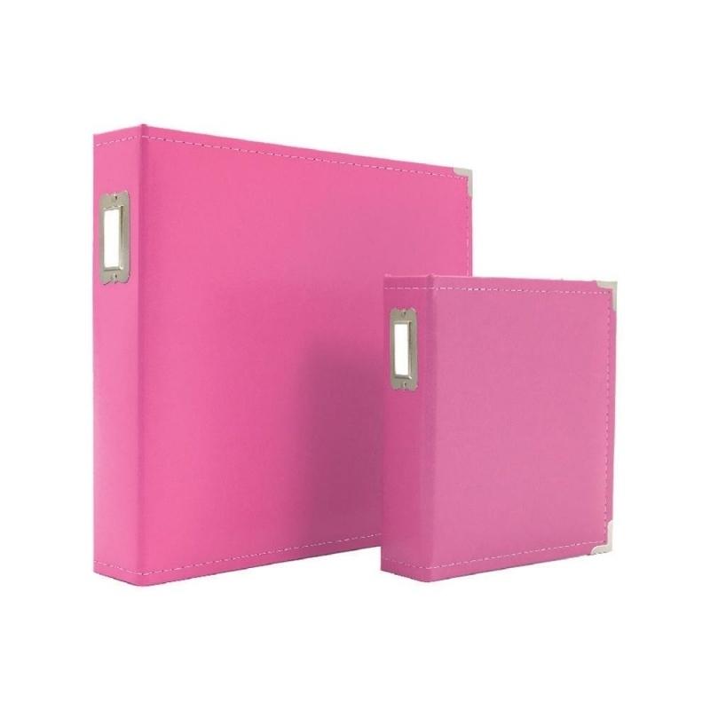 "038484 Sn@p! Leather Binder 6""X8"" Pink"