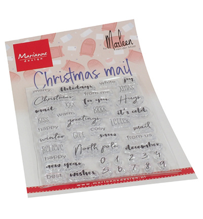 CS1070 Marianne Design Christmas mail by Marleen