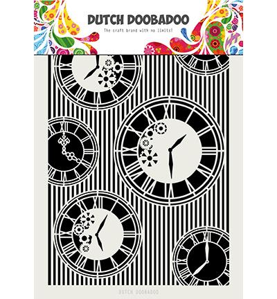 470.715.814 Dutch DooBaDoo Mask Art Clocks Stripes