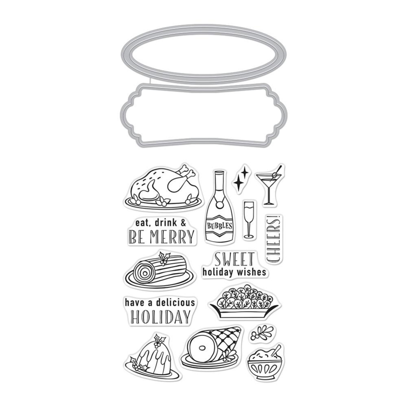 613690 Hero Arts Stamp & Cut Holiday Meal