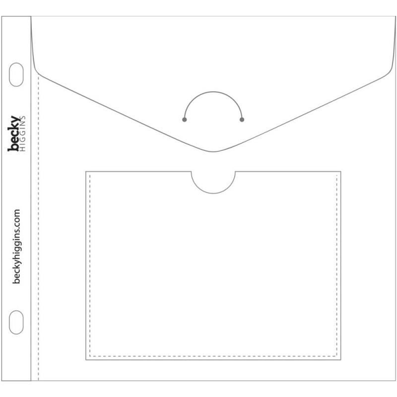 """039970 Project Life Big Envelope Pages 6""""X6"""" 5/Pkg"""