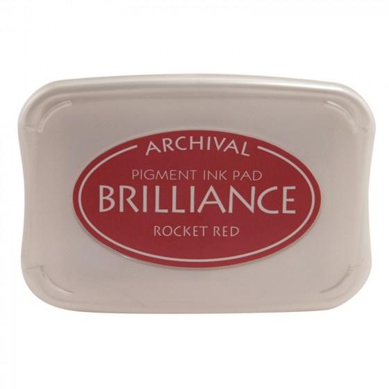 BR1-23 Brilliance ink pad rocket red