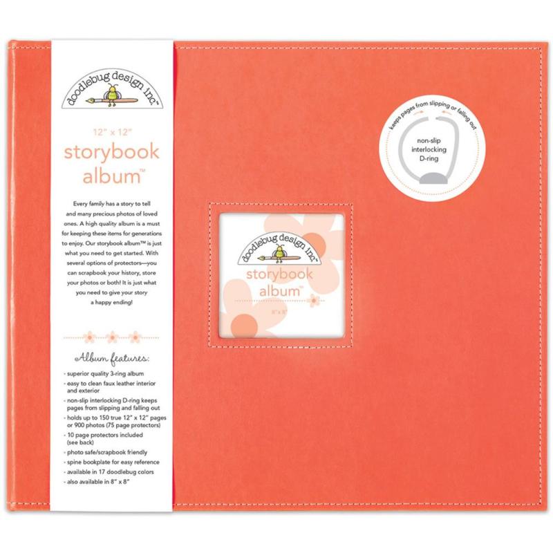 "095178 Doodlebug Storybook Album Coral 12""X12"""
