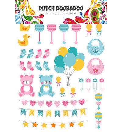 474.007.010 Dutch DooBaDoo Dutch Paper Art Baby elements