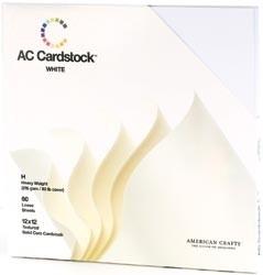 "71259 Cardstock Pack 12""X12"" White"