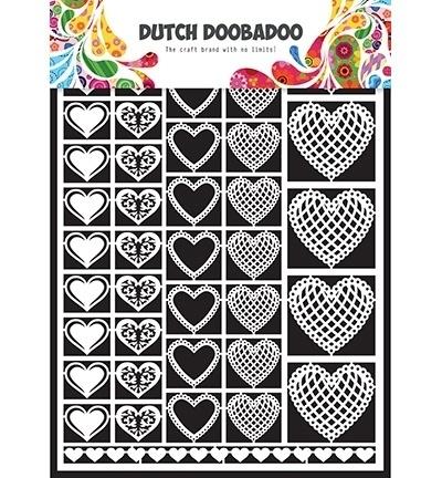 472948001 Dutch Doobadoo Laservel Hearts