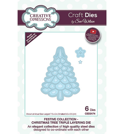 CED3174 Creative Expressions Christmas Tree Triple Layering