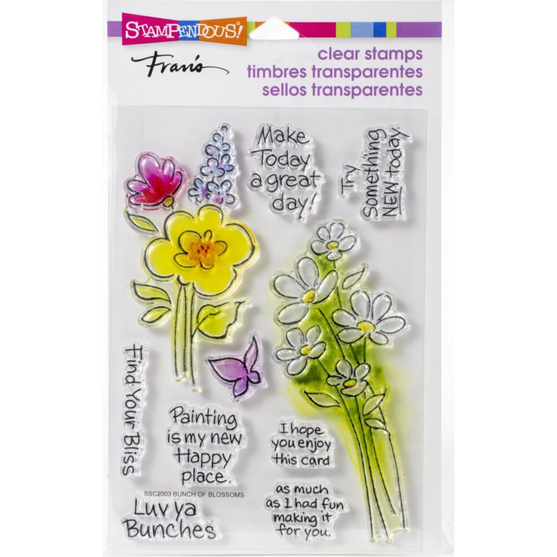 615403 Stampendous Perfectly Clear Stamps Bunch Of Blossoms