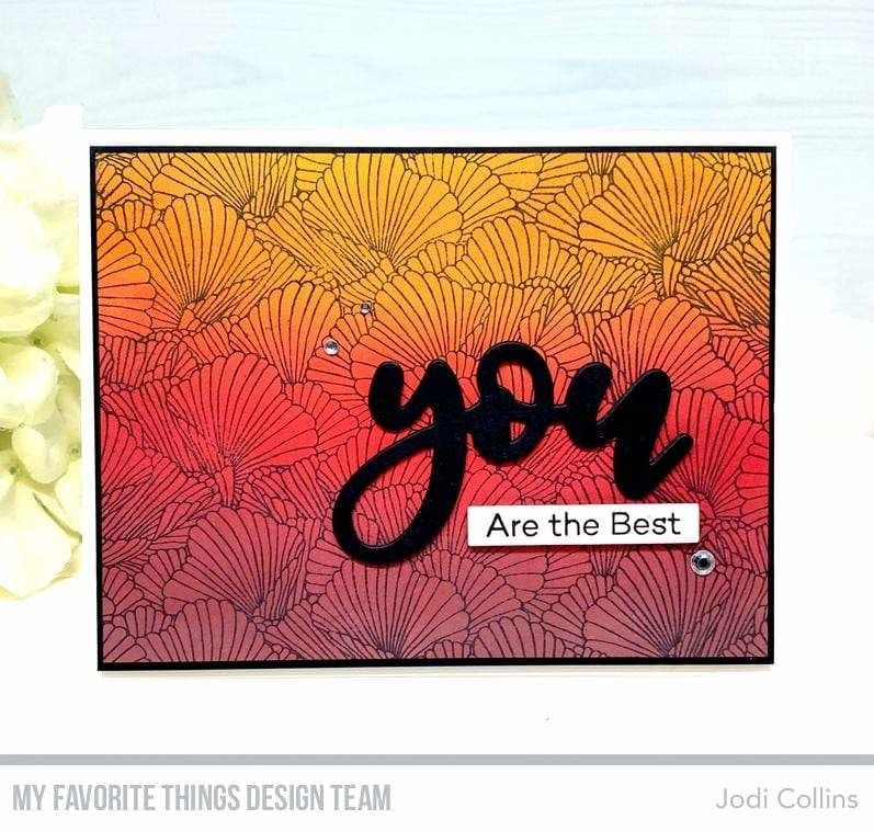 BG-121 My Favorite Things Coral Flair Background Stamp