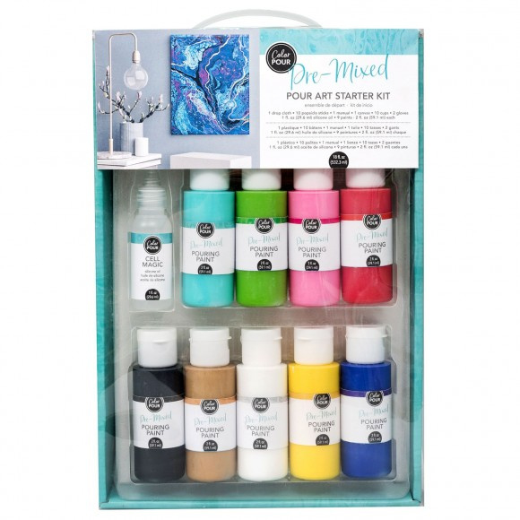 348493 American Crafts Color Pour starter kit