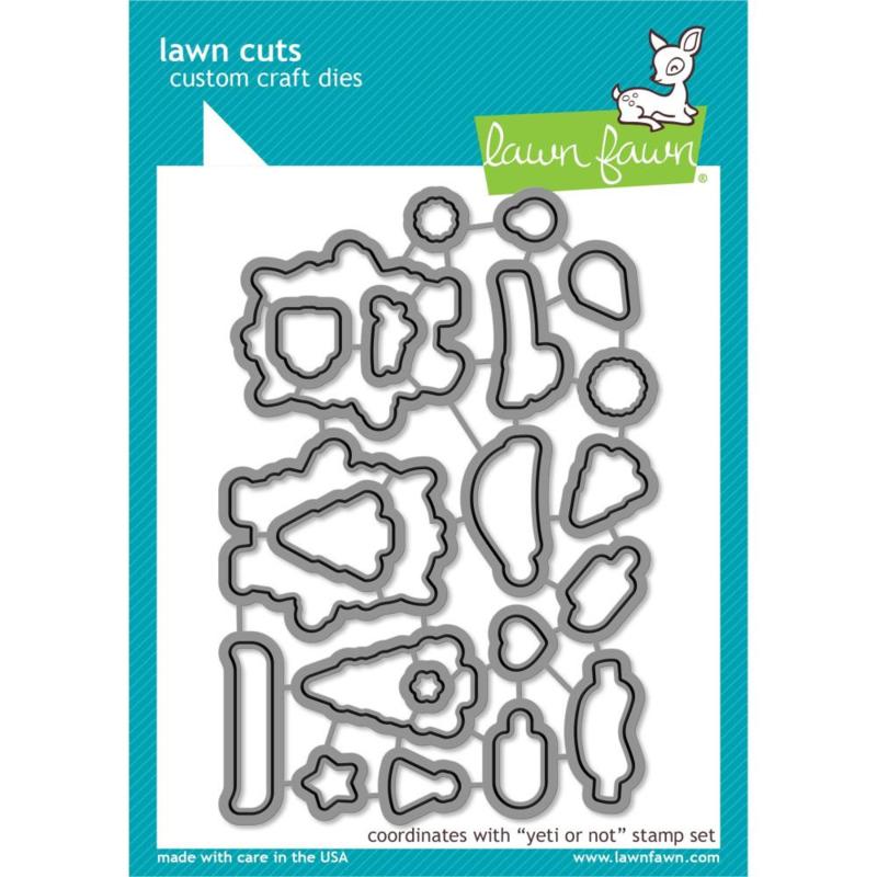 LF2028 Lawn Cuts Custom Craft Die Yeti Or Not