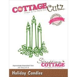 """506471 CottageCutz Elites Die Holiday Candles 2.5""""X3.5"""""""