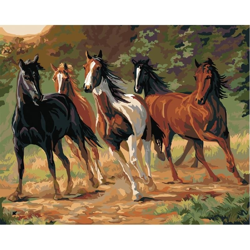 """216 21798 Plaid Paint By Number Kit Home Run 16""""X20"""""""