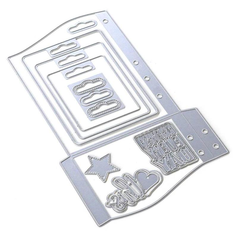 EC1805 Elizabeth Craft Metal Die Planner Essentials 30 Wave Pocket