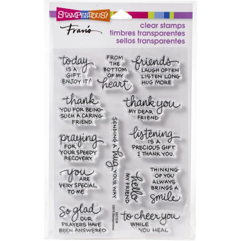 615370 Stampendous Perfectly Clear Stamps From My Heart