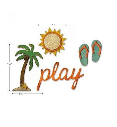 662713 Sizzix Tim Holtz Thinlits with Text.Fades Summertime