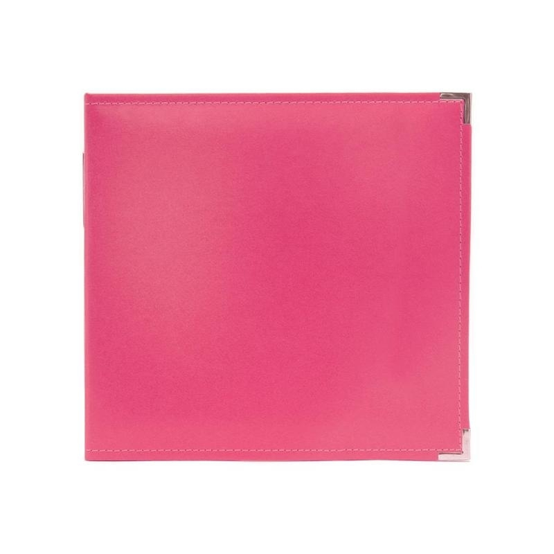 "517011 We R Classic Leather 3-Ring Album Strawberry 12""X12"""