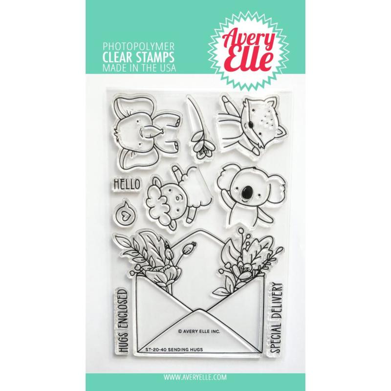 "646521 Avery Elle Clear Stamp Set Sending Hugs 4""X6"""