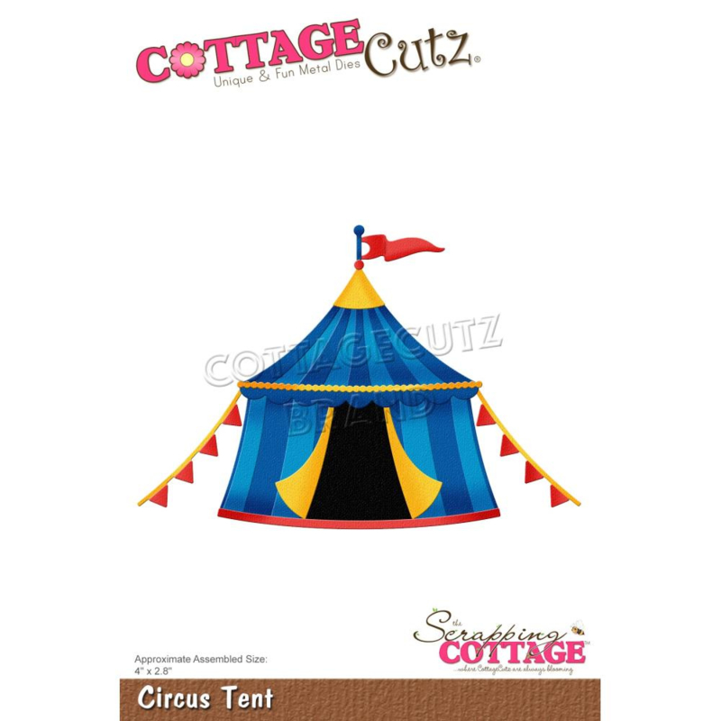 """CC860 CottageCutz Dies Circus Tent 4""""X2.8"""""""