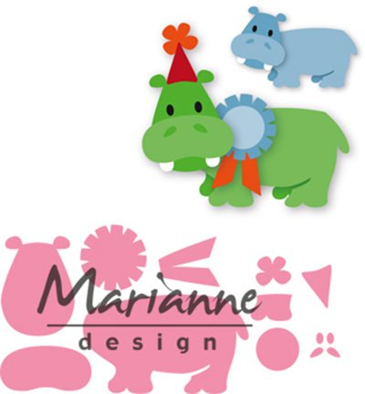 COL1450 Marianne Design Collectables Eline's happy hippo