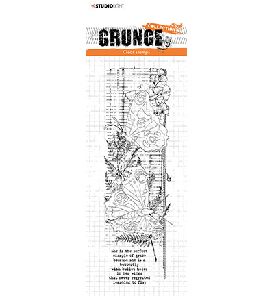 SL-GR-STAMP40 StudioLight Clear Stamp Butterflies Grunge Collection nr.40