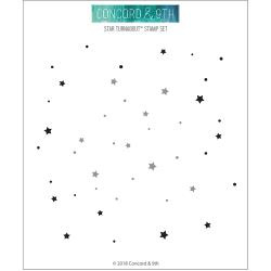 """252353 Concord & 9th Clear Stamps Star Turnabout 6""""X6"""""""