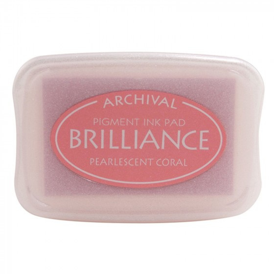 BR1-32 Brilliance ink pad pearl coral