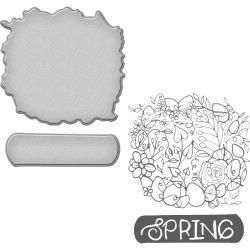 SDS056 Spellbinders Stamp & Die Set By Stephanie Low Spring