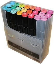 205097 Spectrum Noir Alcohol Markers Brights 24/Pkg