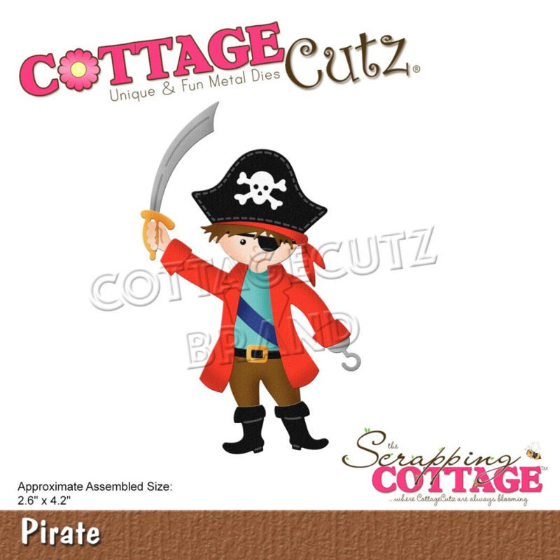 "CC762 CottageCutz Dies Pirate 2.6""X4.2"""