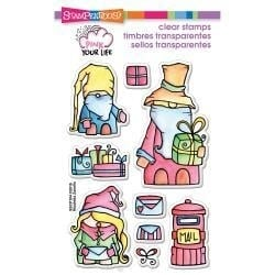 405242 Stampendous Pink Your Life Perfectly Clear Stamps Whisper Friends Christmas
