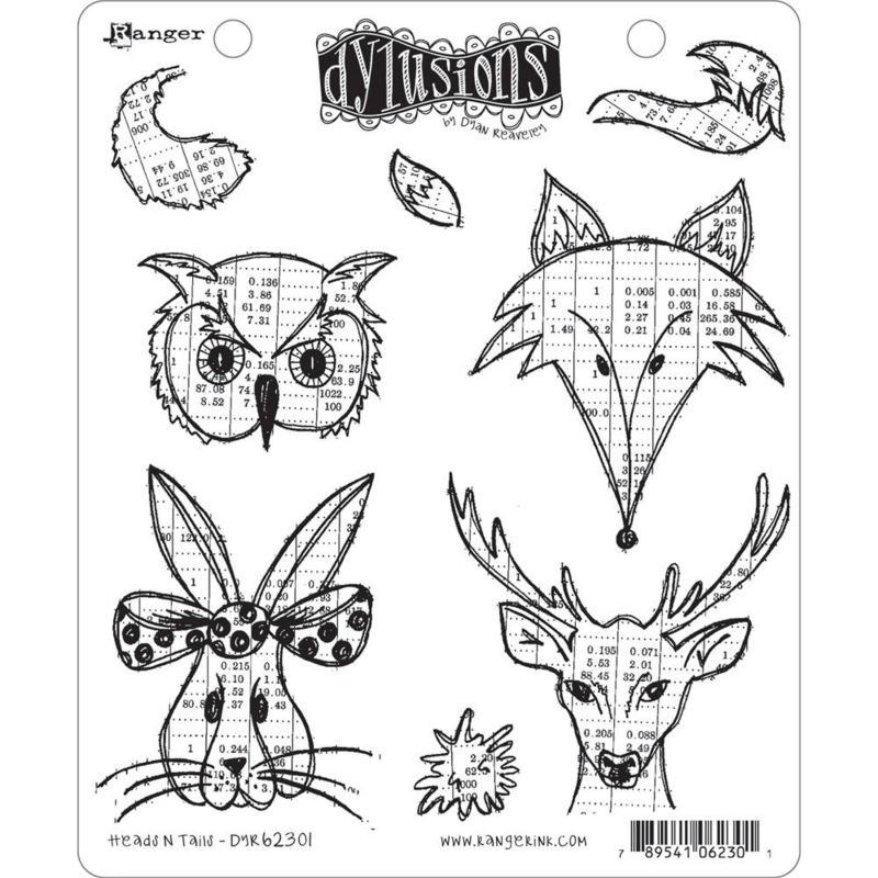 377756 Dyan Reaveley's Dylusions Cling Stamp Collections Heads N Tails
