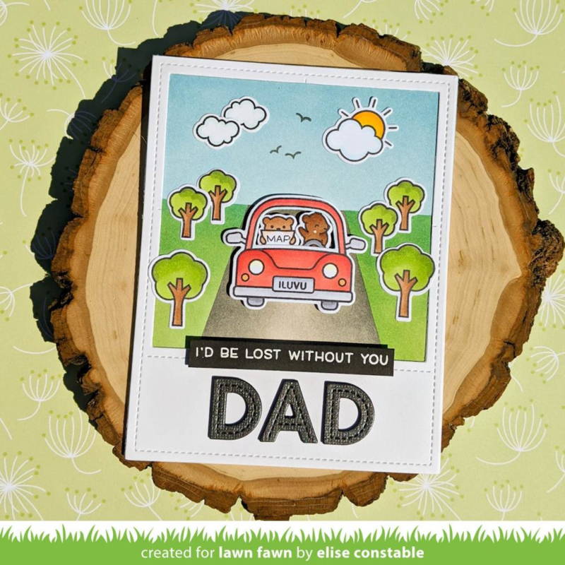 """LF2338 Lawn Fawn Clear Stamps Car Critters 3""""X4"""""""