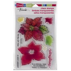 252199 Stampendous Perfectly Clear Stamps Poinsettia Parts