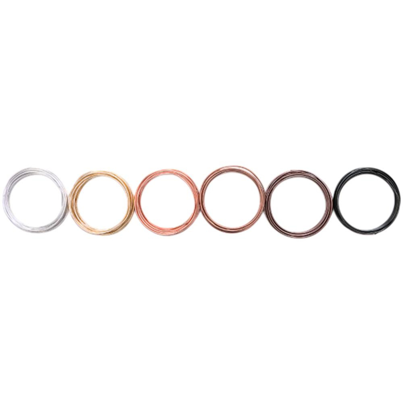 6602668 We R Memory Keepers Happy Jig Color Wire  Neutral 6/Pkg