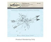 DSC-046 Spellbinders Roses and Arrows 3D Shading Stamp